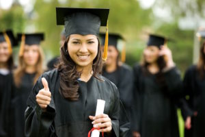 Heritage Language Student in Graduation Gown