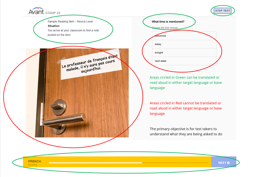 Learn more about the reading and listening examples for Avant Assessment Language Proficiency Tests.