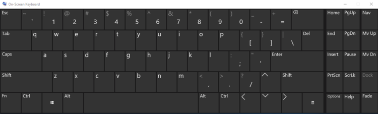 Begin typing in desired language on keyboard when using Windows 10 while taking an Avant Assessment Language Proficiency Test