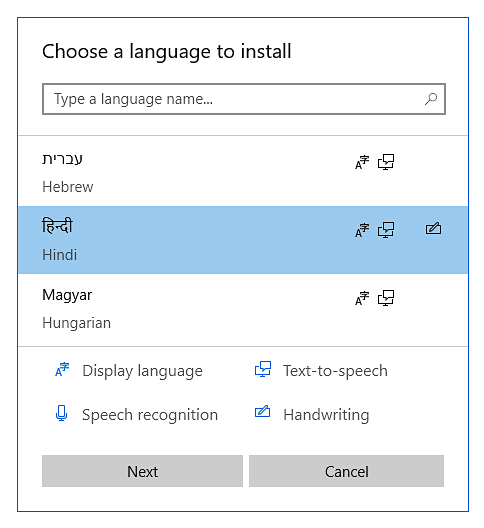 How to install Hindi when using Windows 10 while taking an Avant Assessment Language Proficiency Test